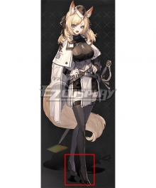 Arknights Whislash Black Cosplay Shoes