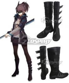 Arknights Yato Black Shoes Cosplay Boots