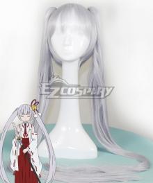Armed Girl's Machiavellism Tsukuyo Inaba White Cosplay Wig