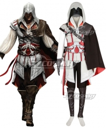 Assassin's Creed 2 Zio Auditore Da Firenze White Cosplay Costume