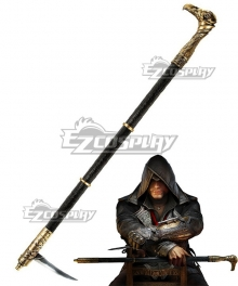 Assassin's Creed Syndicate Jacob Frye Cane Sword Cosplay Weapon Prop