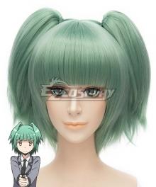Assassination Classroom Ansatsu Kyoushitsu Kaede Kayano Akari Yukimura Green Cosplay Wig