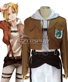 Attack on Titan Shingeki no Kyojin Annie Leonhart Military Police Regiment Cosplay Costume