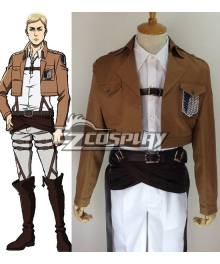 Attack on Titan Shingeki no Kyojin Erwin Smith Elvin Smith Scout Regiment Cosplay Costume