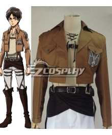 Attack on Titan Shingeki no Kyojin Eren Jaeger Training Corps Cosplay Costume
