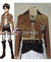 Attack on Titan Shingeki no Kyojin Eren Jaeger Training Corps Cosplay Costume