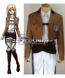 Attack on Titan Shingeki no Kyojin Krista Lenz Training Corps Cosplay Costume
