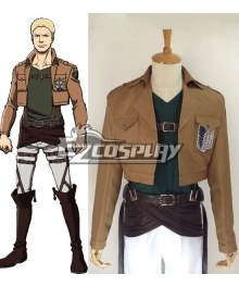 Attack on Titan Shingeki no Kyojin Reiner Braun Survey Corps Cosplay Costume