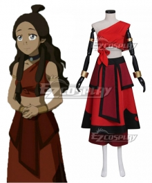 Avatar: The Last Airbender Katara Red Cosplay Costume