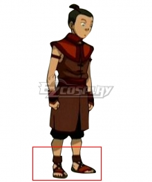 Avatar The Last Airbender Sokka Red Cosplay Shoes