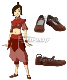Avatar: The Last Airbender Ty Lee Brown Cosplay Shoes