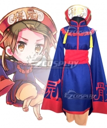Axis Powers Hetalia China Wang Yao Zombie Hallowwen Cosplay Costume