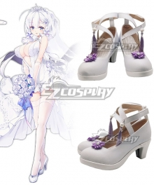 Azur Lane Illustrious Oath Wedding White Cosplay Shoes