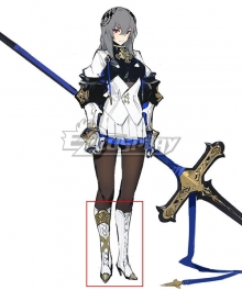 Azur Lane Saint Louise White Golden Shoes Cosplay Boots