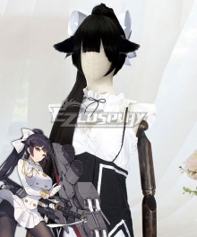 Azur Lane Takao Black Cosplay Wig - Wig + Ears