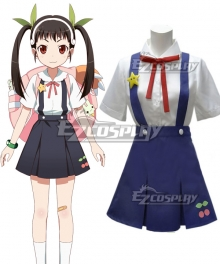 Bakemonogatari Hachikuji Mayoi Cosplay Costume
