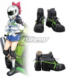 Bakuon!! Raimu Kawasaki Black Cosplay Shoes