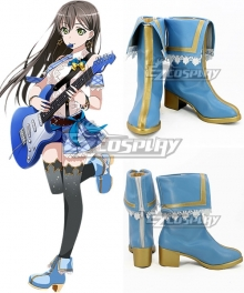 BanG Dream ! Girls Band Party! Hanazono Tae Blue Shoes Cosplay Boots