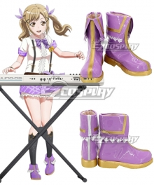 BanG Dream ! Girls Band Party! Ichigaya Arisa Purple Shoes Cosplay Boots