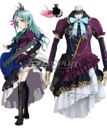 BanG Dream! Roselia Hikawa Sayo BLACK SHOUT Cosplay Costume