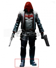 Batman: Arkham City Red Hood Black Cosplay Shoes