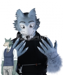 Beastars Legoshi Full Mask Gloves Tail Cosplay Accessory Prop