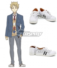 Beyond The Boundary Kyokai No Kanata Akihito Kanbara White Cosplay Shoes