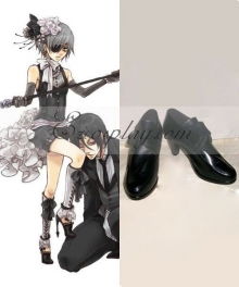 Black Butler Ciel Phantomhive Black Cosplay Shoes