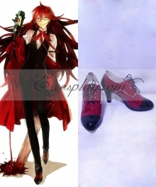 Black Butler Grell Sutcliff Red Butler Shinigami Red Cosplay Shoes