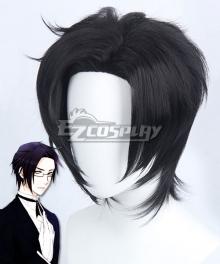 Black Butler II Kuroshitsuji II Claude Faustus Butler Black Cosplay Wig