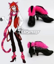 Black Butler Kuroshitsuji Ciel in Wonderland Grell Cheshire Cat Black Cosplay Shoes