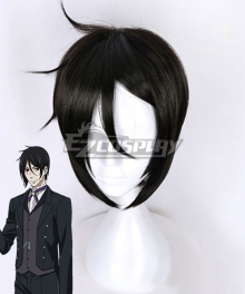 Black Butler Sebastian Michaelis Black Cosplay Wig