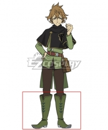 Black Clover Finral Roulacase Green Shoes Cosplay Boots