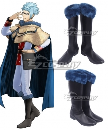 Black Clover Klaus Lunette Black Shoes Cosplay Boots