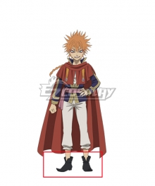 Black Clover Leopold Vermillion  Black Shoes Cosplay Boots