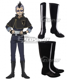 Black Clover Magna Swing Black Shoes Cosplay Boots