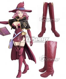 Black Clover Vanessa Enoteca Red Shoes Cosplay Boots