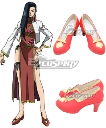 Black Lagoon Shenhua Red Cosplay Shoes