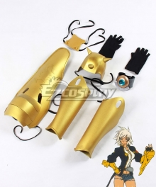 Blazblue: Chronophantasma Bullet Two Gauntlets Cosplay Weapon Prop