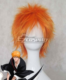 Bleach Kurosaki ichigo Orange Cosplay Wig