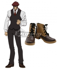 Blood Blockade Battlefront Klaus V Reinherz Brown Cosplay Shoes