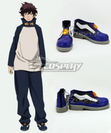 Blood Blockade Battlefront Leonard Watch Blue Cosplay Shoes