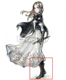 Bravely Default 2 Princess Gloria Brown Shoes Cosplay Boots