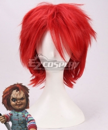 Bride of Chucky Chucky Red Cosplay Wig