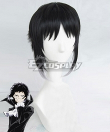 Bungou Stray Dogs Ryunosuke Akutagawa Black White Cosplay Wig