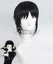 Bungou Stray Dogs Ryunosuke Akutagawa Black White Cosplay Wig