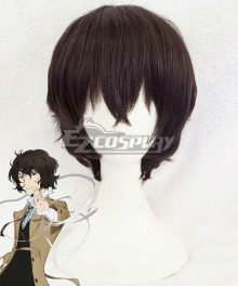 Bungou Stray Dogs Season 3 Osamu Dazai Black Brown New Edition Cosplay Wig