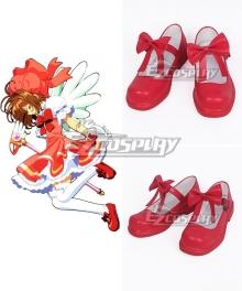 Cardcaptor Sakura Sakura Kinomoto Red Cosplay Shoes