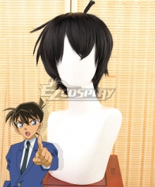 Case Closed Detective Conan Shinichi Kudo Black Cosplay Wig