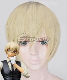 Case Closed Detective Conan Tooru Amuro Rei Furuya Bourbon Light Golden Cosplay Wig